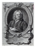 James Gibbs by William Hogarth, Engraved by Bernard Baron, 1747, Giclee Print