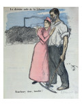 Marianne with a Worker, Illustration from 'Le Chambard Socialiste' 1891 Giclee Print by Théophile Alexandre Steinlen