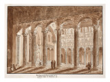The Basilica of St. Paul, Built on the Tomb in the Cemetery of Lucina, 1833 Giclee Print by Agostino Tofanelli