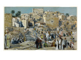 Jesus Passing Through the Villages on His Way to Jerusalem Premium Giclee Print by James Tissot
