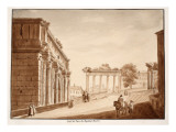 Side View of the Arch of Septimius Severus, 1833 Giclee Print by Agostino Tofanelli