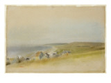Houses on the Cliff Edge at Villers-Sur-Mer, 1869 Giclee Print by Edgar Degas