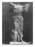 View of the Victory of Samothrace in the Louvre Museum, before 1902 Giclee Print by Adolphe Giraudon