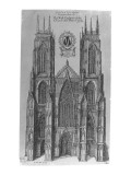 The West Prospect of the Church of St. Peter of York Giclee Print by Daniel King