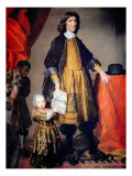Portrait of Cecilius Calvert with His Grandson and Houseboy Giclee Print by Gerard Soest