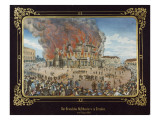 Fire at the Royal Theatre in Dresden on 21st September 1869 Giclee Print by  German School
