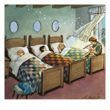 Wendy, Michael and John Sleeping, Illustration from 'Peter Pan' by J.M. Barrie Giclee Print by Nadir Quinto