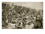 The Battle of Towton, Illustration from 'Hutchinson's Story of the British Nation', C.1923 Reproduction procédé giclée par Richard Caton Woodville II