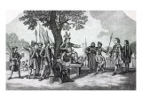 Robert Kett Seated under the 'Tree of Reformation' Receiving the King's Messenger Giclee Print by Samuel Wale