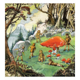 The Lost Boys, Illustration from 'Peter Pan' by J.M. Barrie Wydruk giclee autor Nadir Quinto