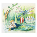 Dragonfly, Illustration from 'The Water Babies' by Charles Kingsley, 1965 Giclee Print by  Mendoza