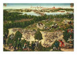 "The Stag Hunt of Elector John Frederick the ""Magnanimous"", 1544 Giclee Print by Lucas Cranach the Younger"
