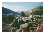 Panoramic View of the Site with the Tholos Temple at the Sanctuary of Athena Pronaia Giclee Print by  Greek
