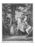 The Meeting at the Bois De Boulogne, Engraved by Heinrich Guttenberg Giclee Print by Jean Michel Moreau The Younger