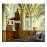 Views of the North and South Aisles of the Church of St. Bavo, Haarlem Giclée-Druck von Isaac van Nickele