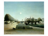 A View of the Ile Saint-Louis from Port Saint-Nicolas, Evening, C.1888 Giclee Print by Henri Emilien Rousseau