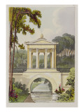 The Temple Bridge, from Ackermann&#39;s &#39;Repository of Arts&#39;, 1822 Giclee Print by John Buonarotti Papworth