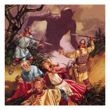 The Legend of Beowulf: Grendel -- Terror from the Marshes Giclee Print by Ron Embleton