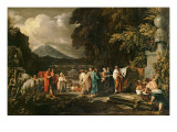 Cicero and the Magistrates Discovering the Tomb of Archimedes Giclee Print by Benjamin West