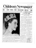 God Save Our Gracious Queen, Front Page of 'The Children's Newspaper', 1953 Giclee Print by English School