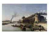 View of Paris, the Seine or L'Estacade, 1853 Giclee Print by Johan-Barthold Jongkind