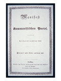 The First German Edition of the Communist Manifesto, Published in London, 1848 Giclee Print by  English School