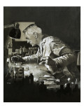 Alexander Fleming and the Discovery of Penicillin Giclee Print by Neville Dear