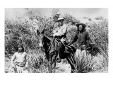 General George Crook on a Mule, with Two Apache in Arizona, 1882 Premium Giclee Print by  American Photographer