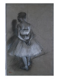 Dancer Standing with Hands Crossed Behind Her Back, 1874 Giclee Print by Edgar Degas