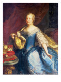 Portrait of the Empress Maria Theresa of Austria Giclee Print by Martin Mytens or Meytens