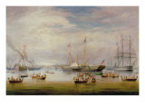 The Royal Yacht `Victoria and Albert' at Anchor Off Cork, 1849 Giclee Print by Atkinson