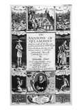 Title-Page to 'The Anatomy of Melancholy' by Robert Burton, 1628 Giclee Print by Christof Le Blon