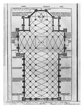 Plan of Milan Cathedral, Illustration from 'De Architectura' by Vitruvius, Como, 1521 Giclée-tryk af  Italian School