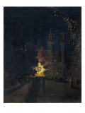 T33980 Fireworks at Cremorne Gardens, Chelsea Giclee Print by Walter Greaves