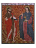 St. John the Baptist and St. John the Evangelist, Paner Giclee Print by Spanish School