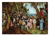 St.John the Baptist Preaching in the Wilderness Giclee Print by Pieter Bruegel the Younger