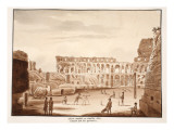 The Arena of the Colosseum Filled in and Restored to its Former State, 1833 Giclee Print by Agostino Tofanelli