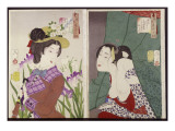 Strolling: the Appearance of an Upper-Class Wife of the Meiji Era and Itchy Premium Giclee Print by Tsukioka Kinzaburo Yoshitoshi