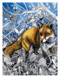 The Fox Is Coming to Town, from 'Nature's Kingdom' Giclee Print by Susan Cartwright