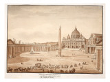 View of St. Peter's Basilica in the Vatican, Built on the Ruins of the Circus of Nero, 1833 Giclee Print by Agostino Tofanelli