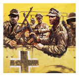 General Erwin Rommel with Other German Soldiers Giclee Print by Graham Coton