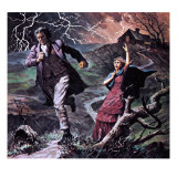 Heathcliff and Cathy, from the Novel Wuthering Heights Giclee Print by Robert Brook