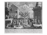 Emblematical Print of the South Sea Scheme, 1721 Premium Giclee Print by William Hogarth