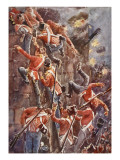 The 5th Division Storming by Escalade the Ramparts of San Vincente Giclee Print by William Barnes Wollen