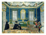 Catherine Ii Recalling Chancellor Alexey Bestuzhev-Ryumin to Court Giclee Print by Russian School