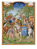 Fol 5V the Month of May: Festival of the Trees, from the 'Breviarium Grimani', C.1515 Giclee Print by  Flemish School