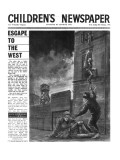 The Berlin Wall, Front Page of 'The Children's Newspaper', February 1964 Giclee Print by English School