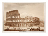 View of the Colosseum During Restoration, 1833 Giclee Print by Agostino Tofanelli
