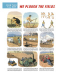 We Plough the Fields. the History of Ploughing Giclee Print by Ronald Lampitt
