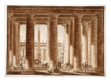 The Colonnade of St. Peter's Square, Seen from Outside, 1833 Giclee Print by Agostino Tofanelli